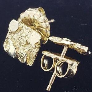 Jewelry - 🔥24 Hour Flash Sale!🔥Solid14k Nugget Earrings